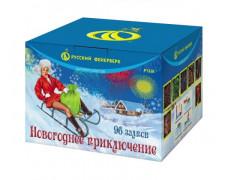 """Батарея салютов Новогоднее приключение  Р7328(0,8"""" х 96)"""