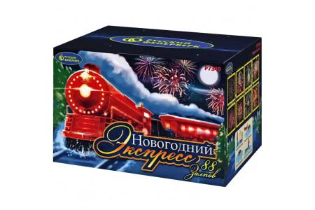 "Батарея салютов Р7340-15 Новогодний Экспресс (0,8"" х 88)"