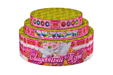 """Батарея салютов Свадебный торт РС908 / РС9040 (0,8"""", 1"""", 1,2"""" х 66)"""