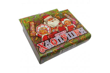 """Супер хлопушка """"Новогодняя"""" 100мм конфетти ТР106 (упаковка 3 шт.)"""