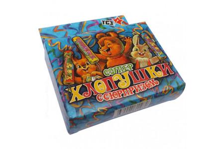 """Супер хлопушка """"Детская"""" 100мм конфетти, сюрприз ТР107 (3 шт.)"""