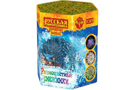"""Батарея салютов Разноцветные снежинки РС809 (1,2"""" х 19)"""