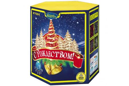 "Батарея салютов С Рождеством! Р7591 (1,25"" х 19)"